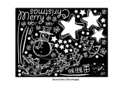 Wallpaper Wall Stickers Window Stickers Paster Paper-cuts DIY for Christmas Day Xmas Party Festival(White)