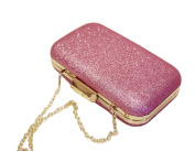 Womens Clutch Bag Ladies Glisten Evening Bag with Chain
