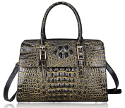 Pijushi Embossed Crocodile Leather Tote Ladies Convertible Top Handle Handbags