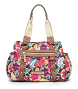 Lily Bloom Landon Triple Section Satchel, Floral Firework