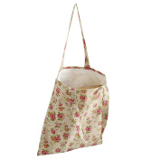 Caixia Women's Pink Rose Canvas Tote Shopping Bag Beige