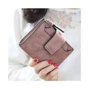 Women Lady Stylish Wallet Mini Zipper Short Hasp Purse Bank Credit Card Holder