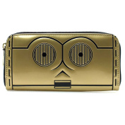 Loungefly X Star Wars C3PO Zip Around Wallet in Gold