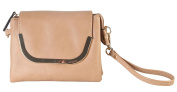 Diophy PU Leather Multi Spaced Wristlet Clutch with Gold Metal Frame Flap Womens Purse Handbag OY-3718