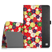 Fintie LG G Pad F 8.0 / G Pad II 8.0 Folio Case - Premium PU Leather Cover [Fit (4G LTE AT & T Model V495 / T-Mobile V496 / US Cellular UK495) & G Pad 2 8.0 V498] 20cm Tablet, Flower Burst