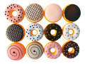 12 Piece Assorted Fake Donuts Pretend Play Toy Food Set for Kids