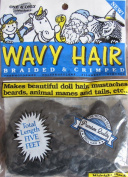 One & Only WAVY DOLL HAIR Braided & Crimped 1.5m Colour MIDNIGHT BLACK