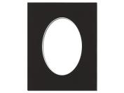 ADF Mat 8x10/5x7 Oval WhtCore Black