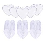 Caydo 20 Set Plastic Heart Shape Bath Bomb Mould 6 CM for Christmas Ball Ornaments
