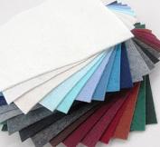 21 Felt Sheets - 15cm x 15cm Winter Colours Collection - Made in USA - Merino Wool Blend Felt - OTR Felt