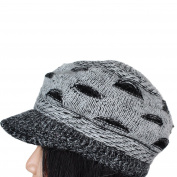 ECOSCO Women's Slouchy Cut Openings Fluffy Knit Crochet Beanie Winter Hat Cap