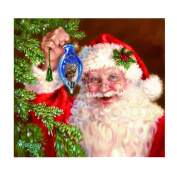 """Elevin(TM) 5D DIY Crystal Diamond Painting Counted Paint By Number Kits Cross Stitch Square""""Love Tree""""""""Lavender""""""""Peacock""""""""Christmas Santa Claus""""Diamond Embroid"""