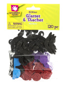 Foam Stickers 120/Pkg-Glasses & Staches