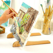 ART EASEL - Portable Compact Easy Carry Table Top Pocket Painting Easel for Childrens Teens and Adults Painters. Hold and Display Any Canvas Perfectly Stable, 30cm Long Natural Wood by Colorona