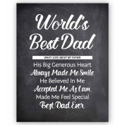 """Awesome Gifts For Dad - """"World's Best Dad"""" Father's Day Gifts, The Perfect Gift For Fathers From Daughter Or Son - Best Birthday Gift For Dad - Unique Gifts For Dads"""