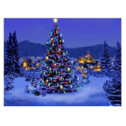 Whitelotous Beautiful Christmas Tree 5D Diamond Painting Embroidery DIY Paint-By-Number Kit Home Wall Decor 41cm x 30cm
