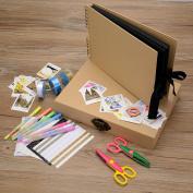 Innocheer Scrapbook with Photo Album Storage Box, 80 Pages Craft Paper DIY Anniversary, Wedding Photo Album, with DIY Accessories Kit