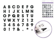 Forever in Time Clear Cling Rubber Stamp Alphabet ABC's Letter Set cs222c