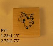 P87 Pikachu rubber stamp