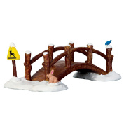 Lemax Split Rail Footbridge Village Accessory Porcelain