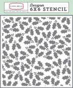 Carta Bella Paper Company Christmas Wonderland Holly Berries Stencil, 15cm x 15cm