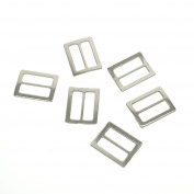 yoyostore 20pc Metal Square Ring Buckle DIY Luggage Belt Shoe Hat Slide Making Sewing Craft Inside Width 25mm Diy