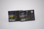 Fabricare Choice - 10 Kits - New Travel Sewing Kits - 10 Colour Pre-Threaded Needles / Buttons / Pin