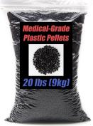 Black, Medical-Grade Plastic Pellets 2.3kg in Resealable Bag. Hypoallergenic & Machine Washable. Ideal for Toy & Doll Stuffing, Bean Bag Toss, Cornhole, Weighted Blankets & Even LDPE Injection Moulding.