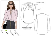Style Arc Sewing Pattern - Holly Woven Blouse (Sizes 18-30) - Click for Other Sizes Available