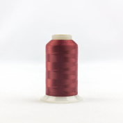 WonderFil Invisafil Specialty Thread, 2-Ply Cottonized Soft Polyester, 100wt - Wine, 2500m