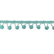 Ball Fringe 2.5cm - 0.3cm Wide, 9 Yards, Light Blue