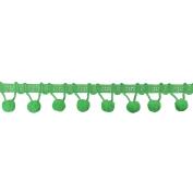 Ball Fringe 2.5cm - 0.3cm Wide, 6 Yards, Lime Green