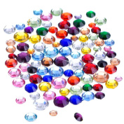 Outus Flatback Rhinestones Resin Round Crystal, 2 mm - 5 mm, 1000 Pieces
