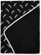 KicKee Pants Swaddling Blanket, Midnight Falling Feather
