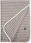 KicKee Pants Swaddling Blanket, Feather/Natural Stripe
