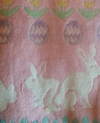 Peter Cotton Tail Full Size Crib Blanket/100% Woven Cotton/ Pink
