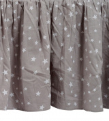 Zack & Tara Crib Skirt - Stars in Grey