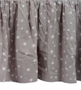 Zack & Tara Crib Skirt - Stars in Grey