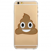 iPhone 7 Plus Case, Axiba Emoji Pattern Transparent TPU Carring Case Protect Cover for iPhone 7 Plus 14cm