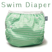 Nageuret Adjustable Swim Nappy, Reusable & Stylish Fits Nappy Sizes N-5 (3.6-16kg) Ultra Premium Quality For Eco-Friendly Baby Shower Gifts & Swimming Lessons