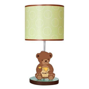 Honey Bear Neutral Boys Or Girls Green And Brown Lamp With Shade - Lambs And Ivy