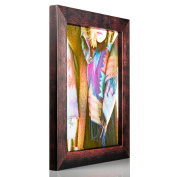 Craig Frames Gesso, Black and Maroon Plain Wooden Picture Frame, 13cm by 18cm