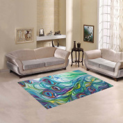 JC-Dress Area Rug Peacock Modern Carpet 1.5mx1.2m