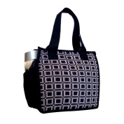 Artecobags Insulated Lunch Bag - Black & White Squares