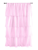 Tadpoles Multi-Layer Tulle Curtain Panel, Pink, 210cm