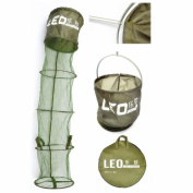 LeRyjoy(TM) UK NEW Design 34CM * 1.8M Folding Polyester Shrimp Minnow Fish Fishing Net Cage Tackle Care Creel 5 Layers Collapsible