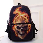 Halloween Skull Flame Backpack bag for Boys girls travel Rucksack Back pack bag
