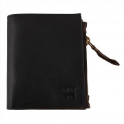 Hammer Coal Genuine Leather Male Wallet/Boys /Gents Wallet Black with Zipper