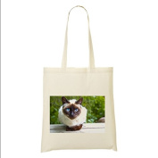 Siamese CAT 100% Cotton Bag(FC) #13