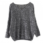 Womens Sweater, Xinantime Hollow Out Bat Sleeve V Collar Loose Sweater
